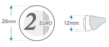 Signia Silk X Größendarstellung 26 Millimeter