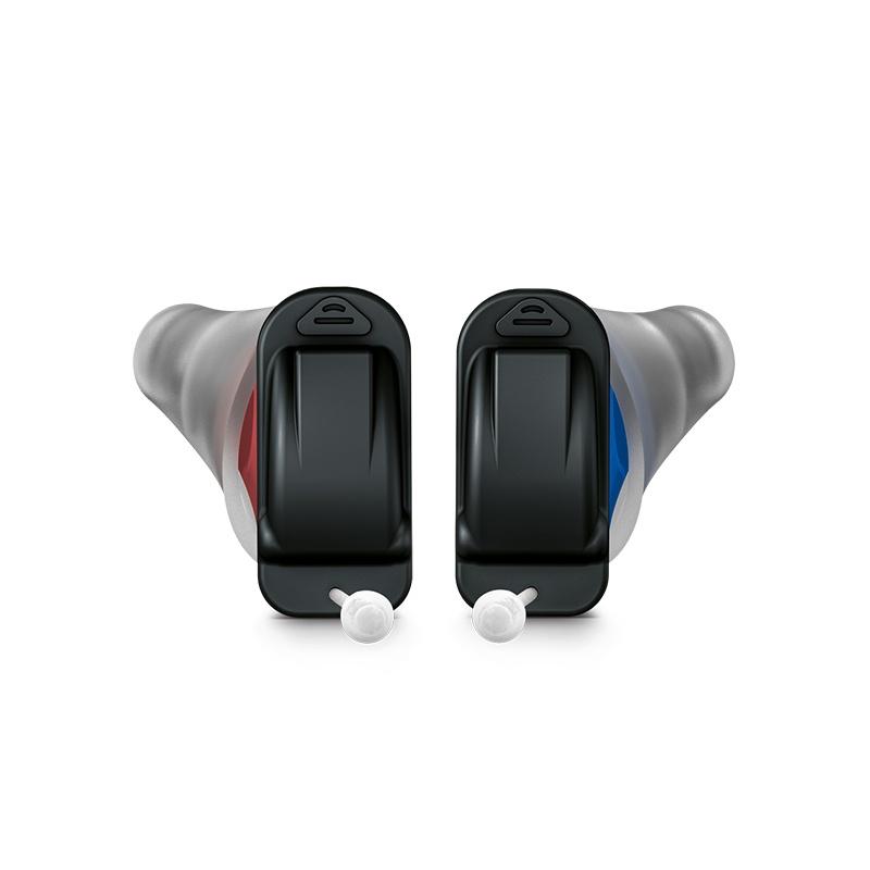 Signia Silk X Hörgeräte Paar in mokka und schwarz