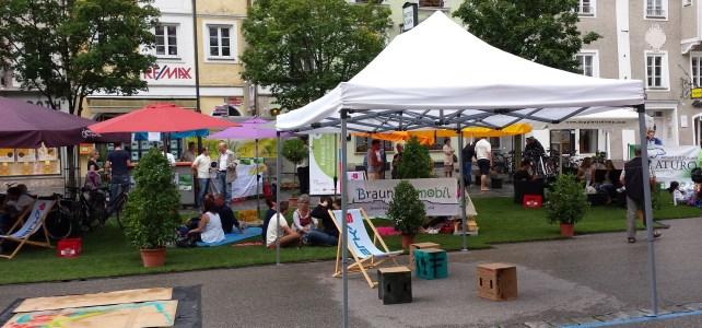 Rückblick: Stadtoase – Begrünter Stadtplatz mit Spielen und Künsten