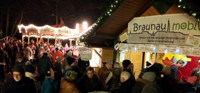 """""""Braunau mobil"""" auf dem Braunauer Christkindlmarkt 2018"""