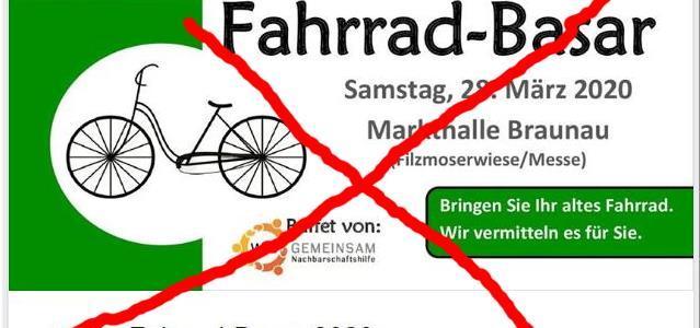 !!! ABGESAGT !!! – Fahrradbasar 28. März