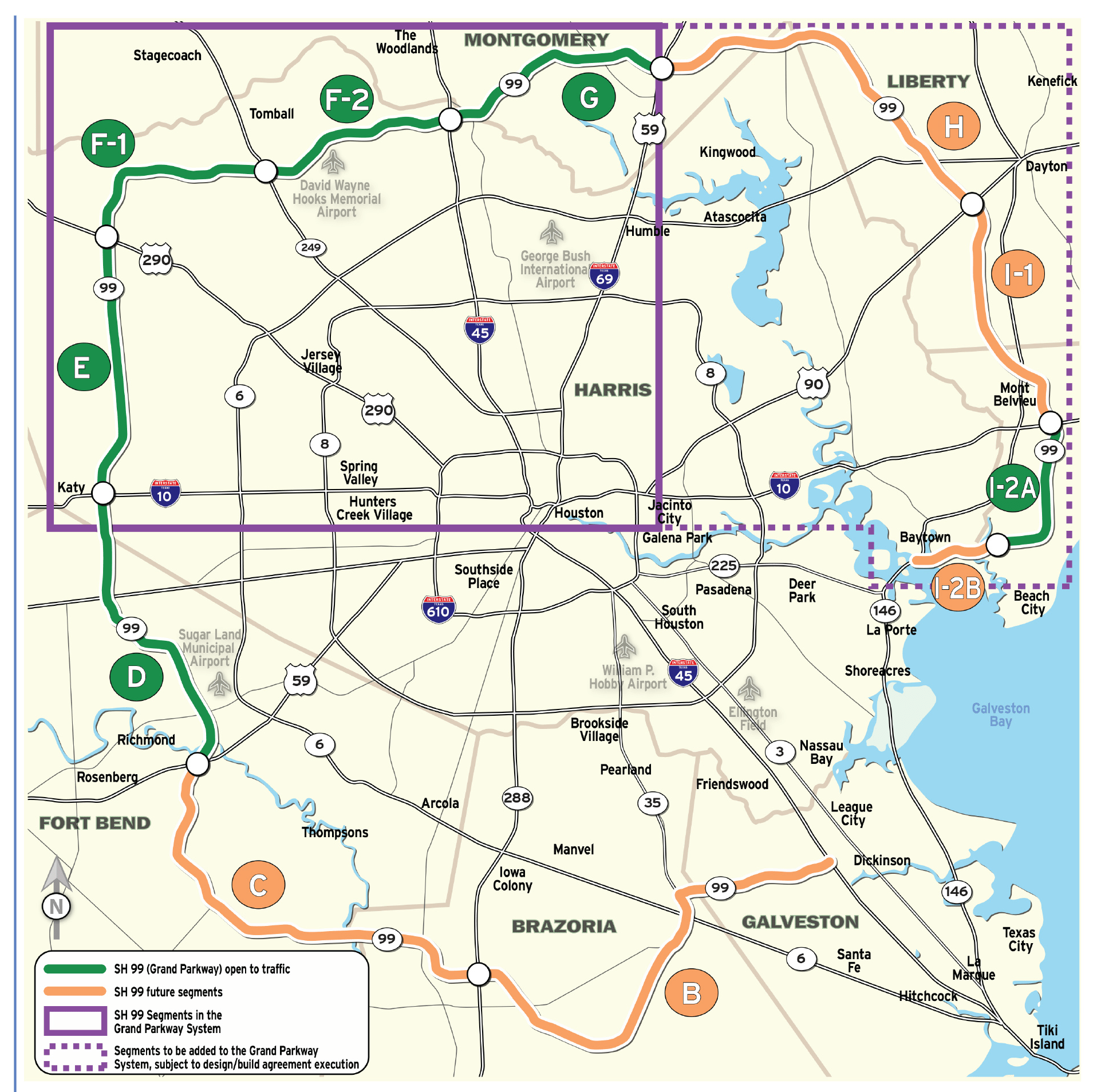 Map Houston Hwy 6 Are