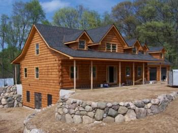 log cabin roof color