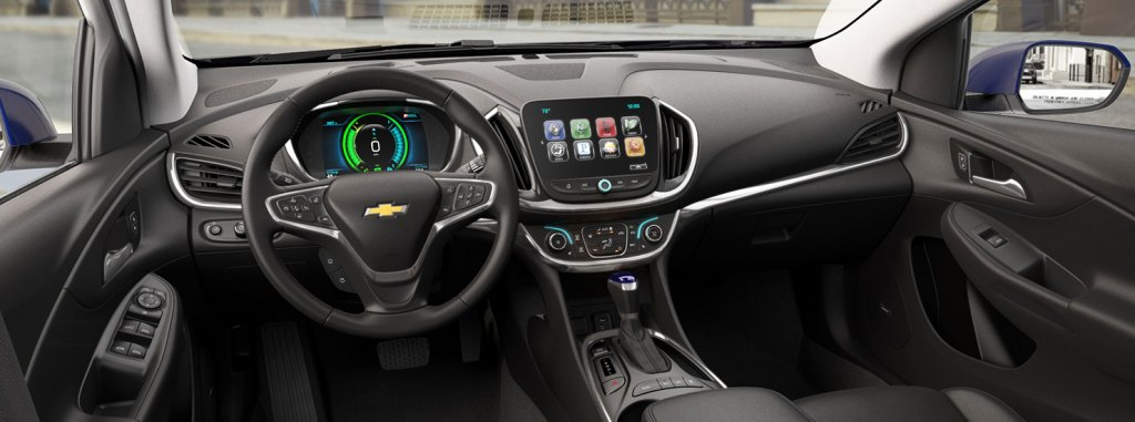 interior of 2017 Chevy Volt