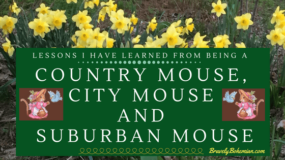 Being a Country Mouse_City Mouse_Suburban Mouse