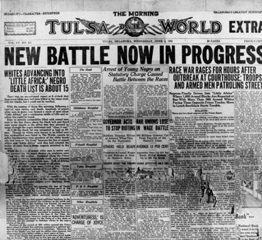 Tulsa Race Riots_June 1_1921_morning_newspaper_account
