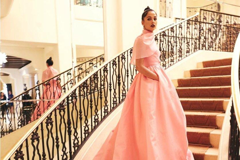 Naomi Scott's a Real-Life Princess With Her Aladdin Press Tour Looks