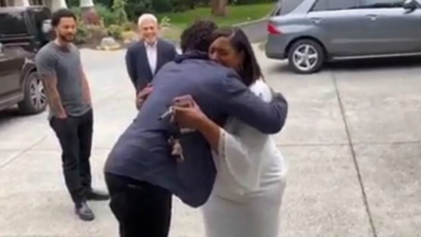Russell Wilson Surprises Mom Tammy With a New House (Video)