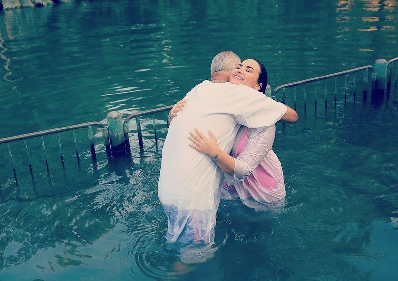 """Demi Lovato Filled a """"God-Sized Hole"""" as She Gets Baptized in the Jordan River"""