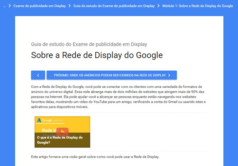 Curso de Marketing Digital Publicidade na Rede de Display