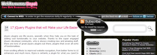 Web Resources Depot screenshot