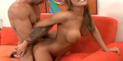 She Flashes Her Tit And They End Up Full Of Jizz