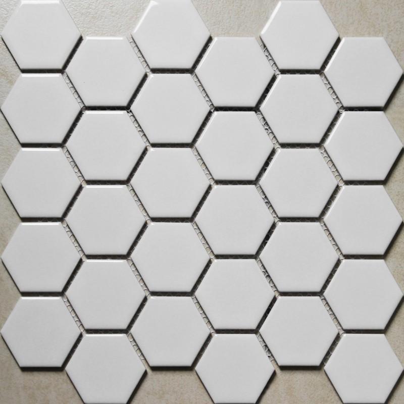 hexagon porcelain tile white shiny porcelain tile non slip tile washroom wall tiles shower tile kitchen wall backsplashes tile xmgt4bt
