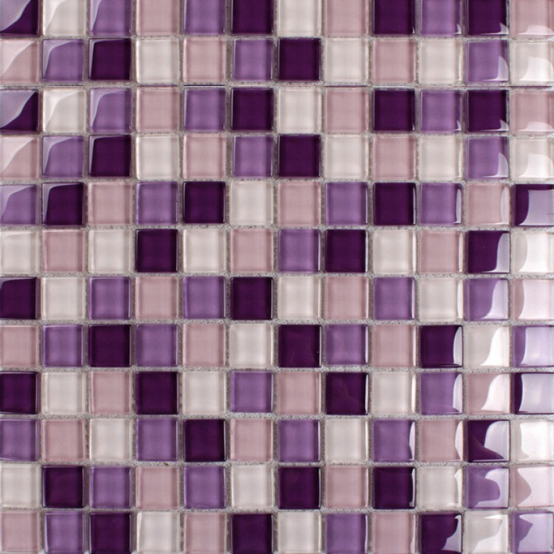 purple glass mosaic tiles backsplash kitchen bathroom wall and floor crystal glass tile flooring shower designs klnt165
