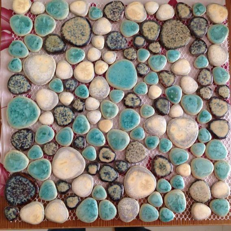 glazed porcelain tiles cheap pebble tile green and brown shower wall and floor tiles design heart shaped ceramic pebbles mosaic ppt004