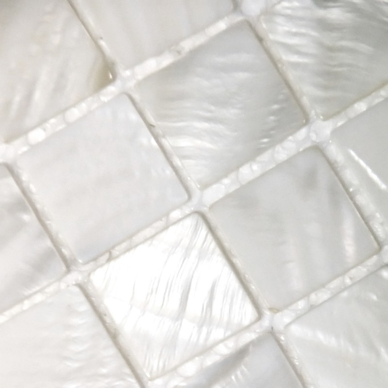Mother Of Pearl Tile Mosaic Square 1 Inch Freshwater White