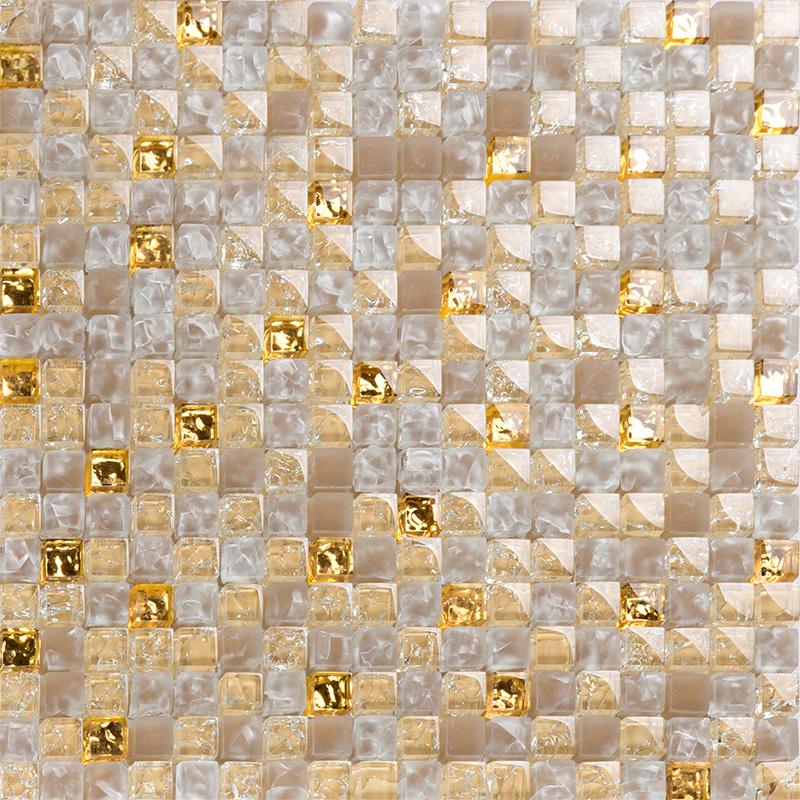 Yellow Crystal Glass Tiles For Kitchen And Bathroom Wall Shower Tile Designs Gold Crackle Glass