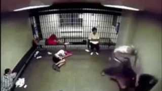 Bully gets a surprise when he picks a fight in this cell #streetfight