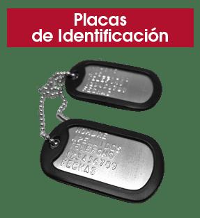 Placas de Identificación de acero inoxidable | BrazaVip