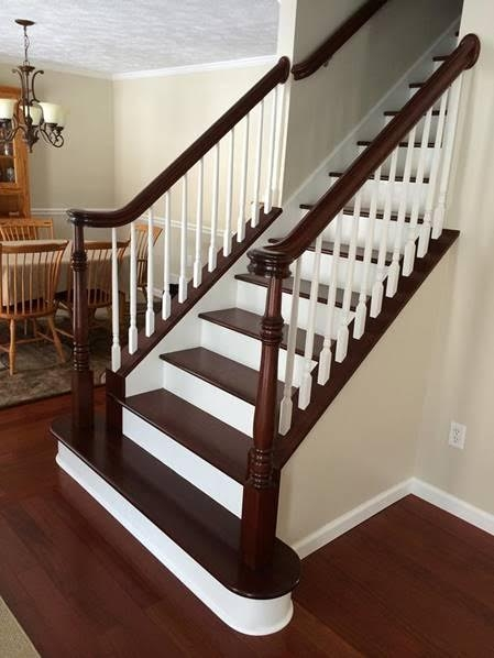 Stairs Treads And Risers Hardwood Floor Accessories By | Wood Stairs With Tile Risers | Color Scheme | Creative | Stair Outdoors | Grey | Tile Residential