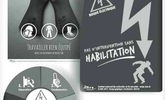 Risque électrique : Nouvelles affiches de l'INRS