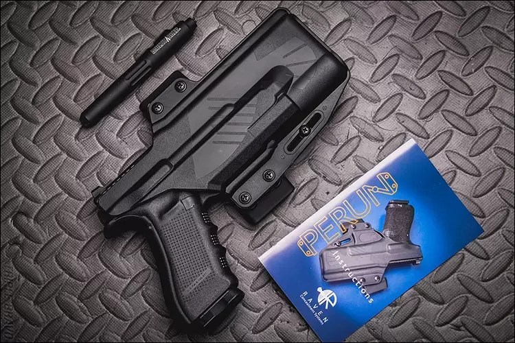 Triple Bravo Photography | Raven Concealment Systems Perun LC Light Compatible holster for Glocks with Surefire WML.