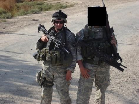 Eric Lauzier in Iraq