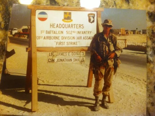 Sergeant Major David Stewart during Desert Shield/Desert Storm