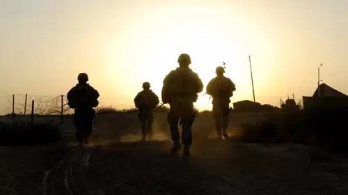 Sunset in Iraq War Crimes Chris Hernandez 2