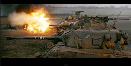 Fury movie - Shermans vs Tiger