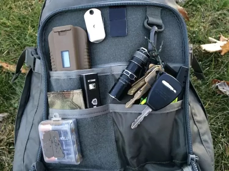 Grey Ghost Pack inside front pocket, dividers and loop