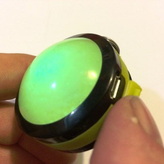 Orb's USB port dust-cover and light sensor