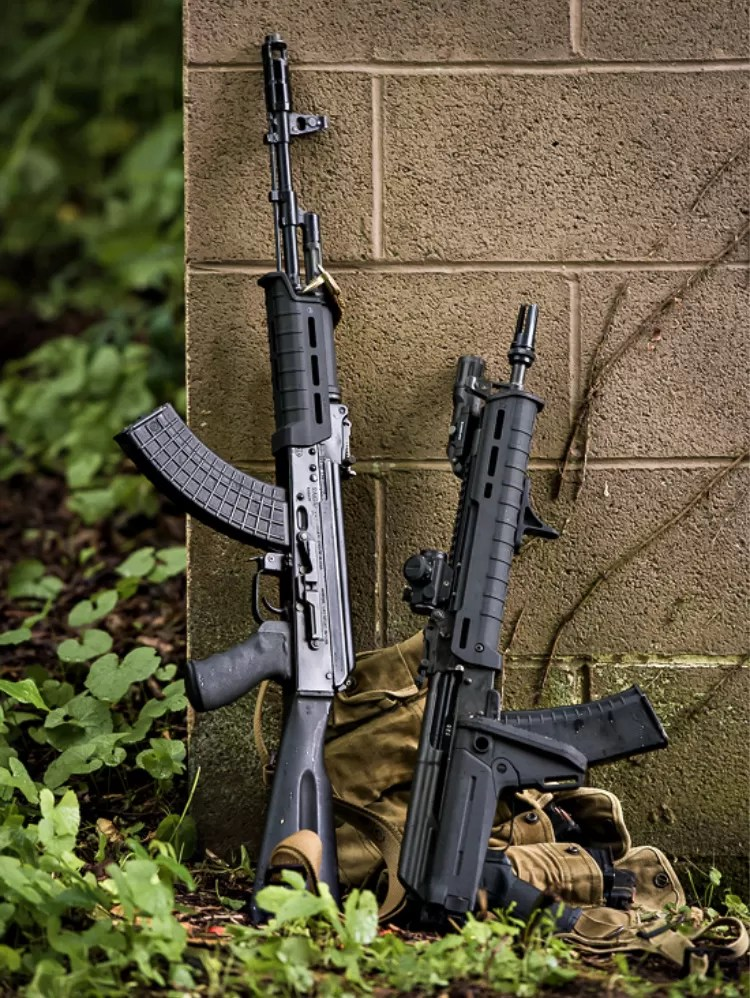 Magpul AK-47 Furniture: Zhukov-S stock and MOE handguard.