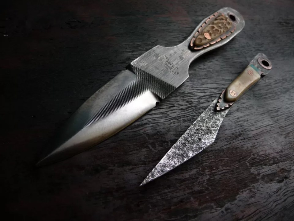 Ru Titley Knives draw their inspiration throughout nature - from the curve of a leaf to the shape of an insect.