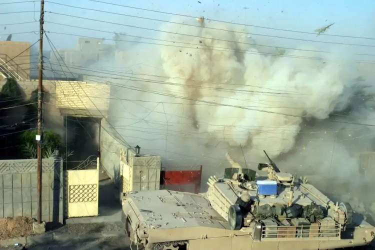USMC tank in the Battle of Fallujah