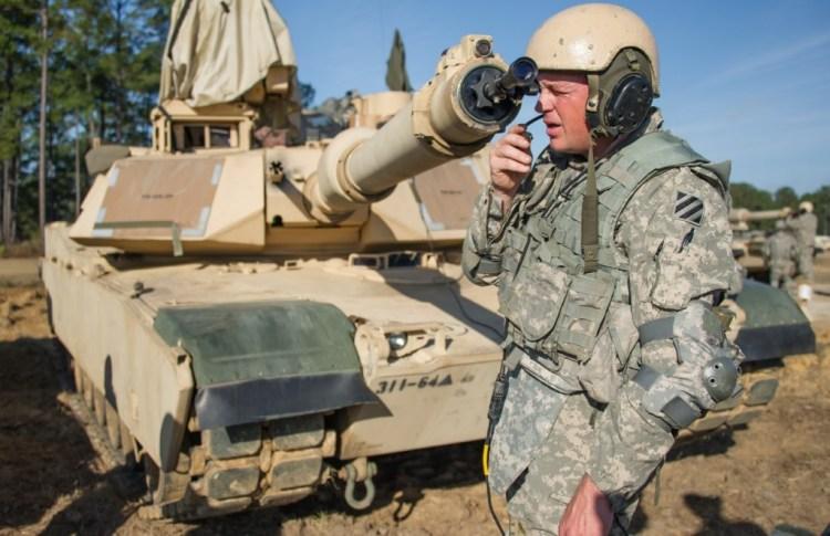 Boresighting an Abrams. Photo from firearmstalk.com.
