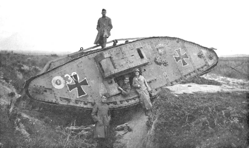 French Schneider tanks and St. Chamond tanks were little better than their German AV7 counterparts.