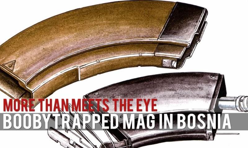 Booby Traps: Bakelite magazine: a bosnian ak mag