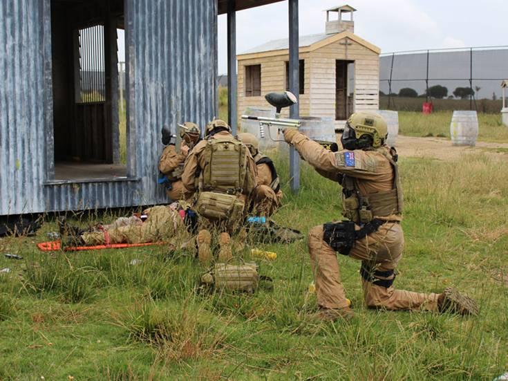 Australian military paintball training