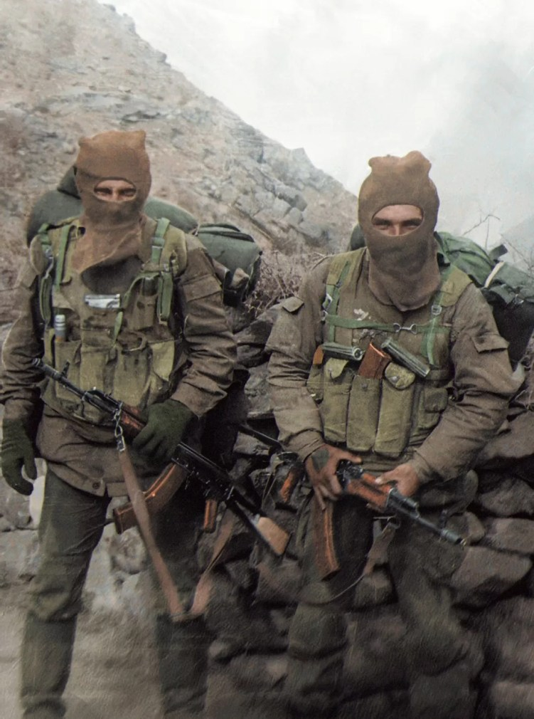 Unknown Russian soldiers in Afghanistan with Bakelite magazines.