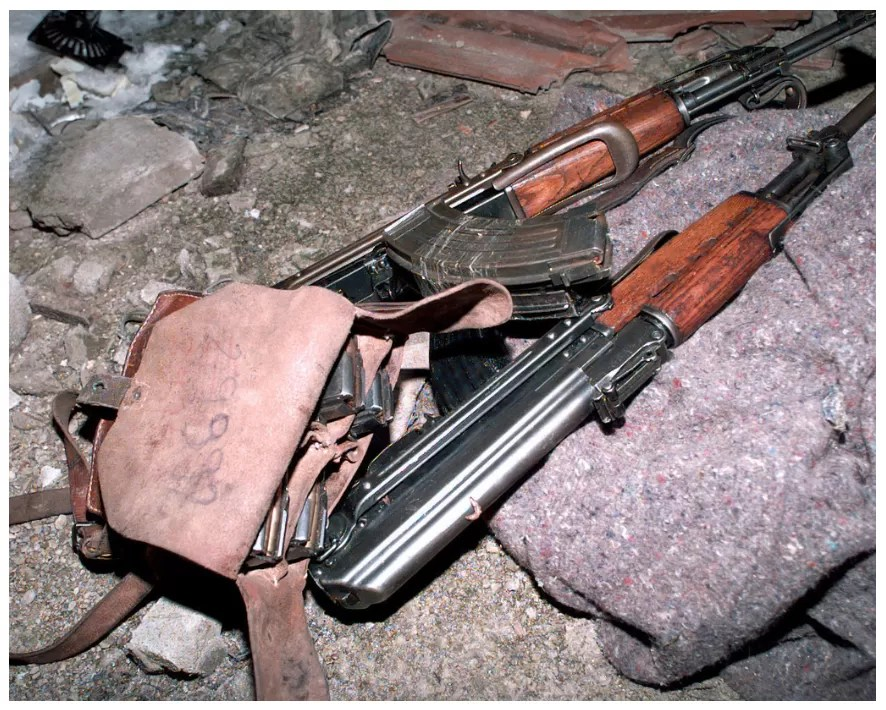 Bosnian AK47 rifles recovered during Operation Joint Endeavor.