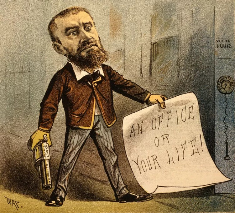 On 2 July 1881, disgruntled lawyer Charles J. Guiteau, who was angry that President Garfield had not appointed him to a federal post, used one to killthe president.