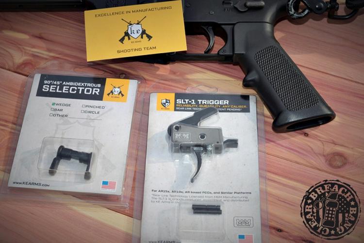 KE Arms Sear Link Technology: Ambidextrous Selector and SLT-1 trigger.