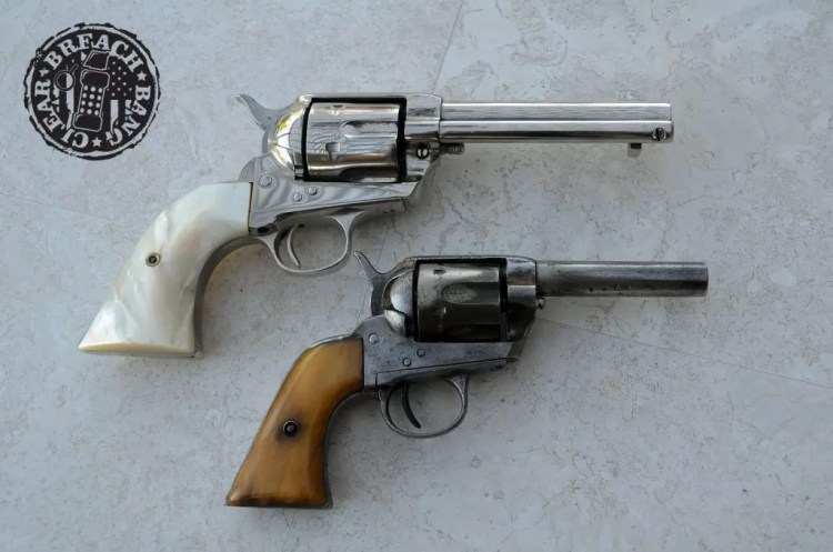 Here is the Mexican Colt revolver pictured alongside a real SAA made in 1903