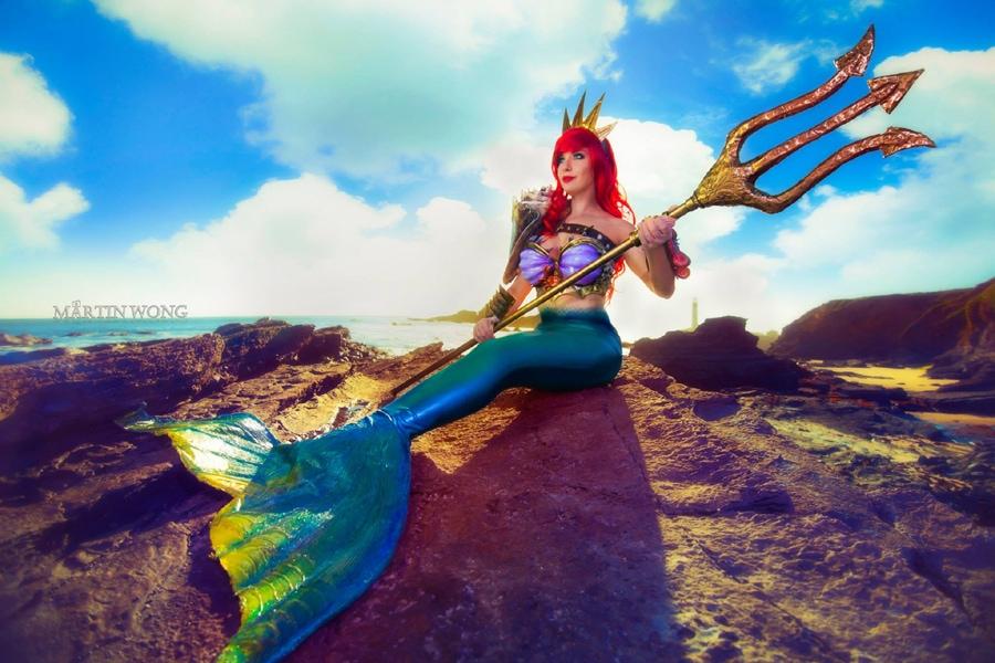 Lisa Lou Who as the Little Mermaid