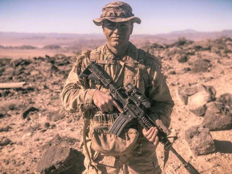 Afghan interpreter turned US Marine.