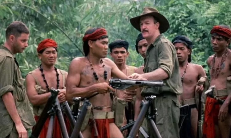 A Sten MK3 in the movie Farewell to the King.