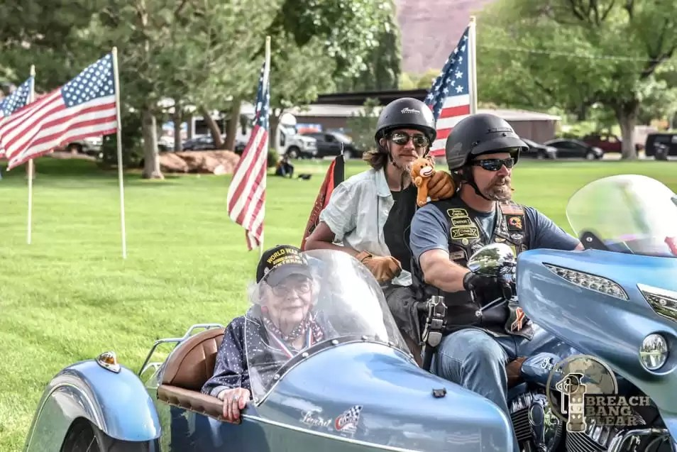 Sidecar therapy Veterans Charity Ride Miss Kay