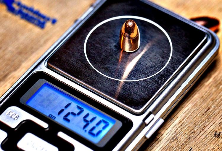 Bullet weight is measured in grains.