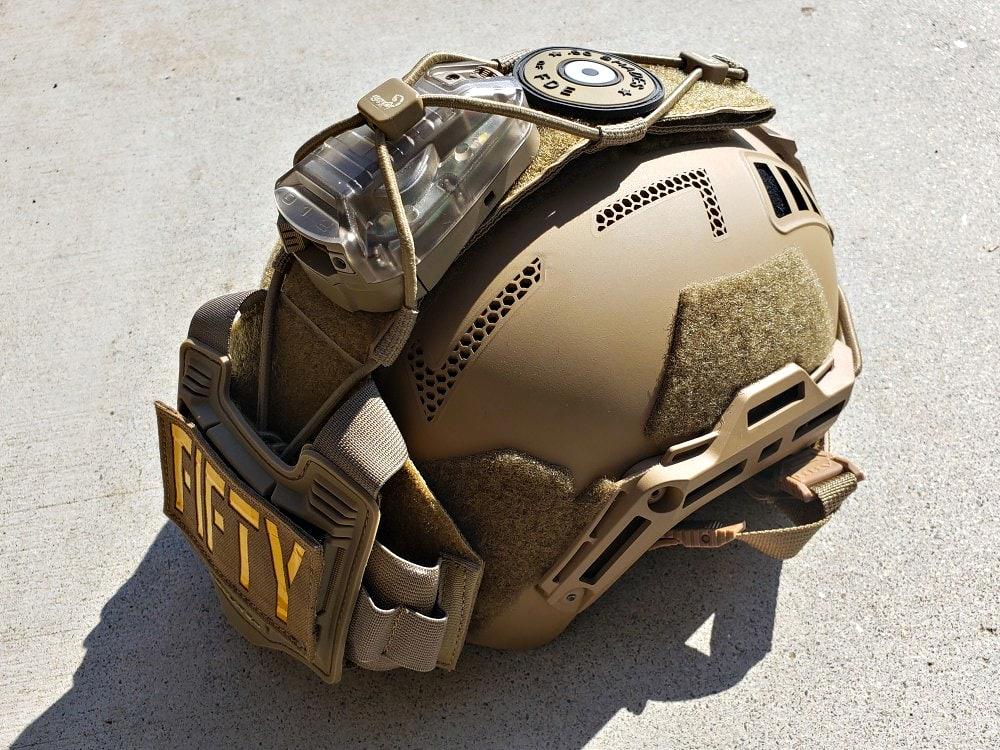 The Agilite Tactical Bridge on the HHV ATE Bump helmet.
